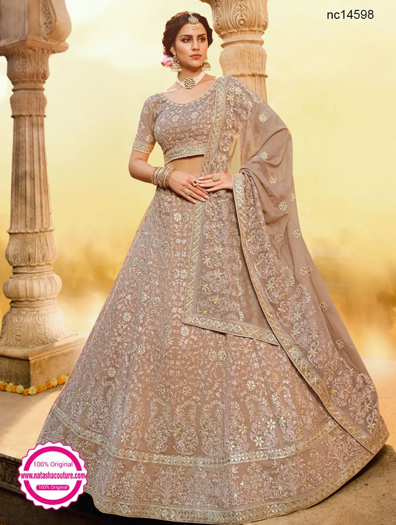 Light Brown Georgette Lehenga Choli NC14598
