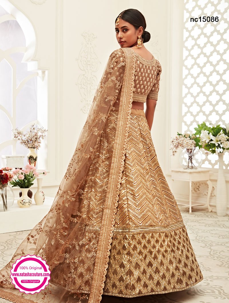 Light Brown Silk Lehenga Choli NC15086