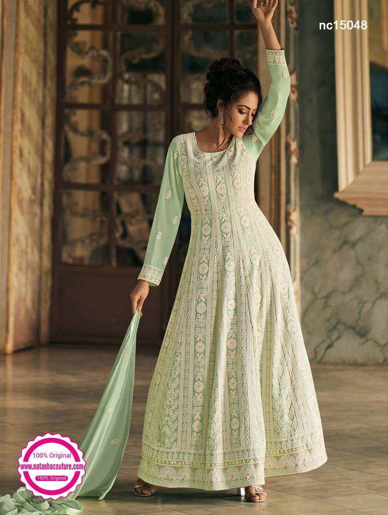 Light Green Georgette Anarkali Suit NC15048