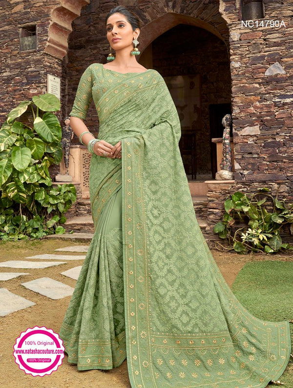Light Green Georgette Saree NC14790A