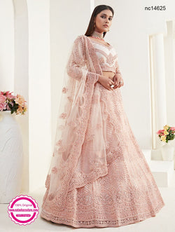 Light Pink Net Bridal Lehenga Choli NC14625