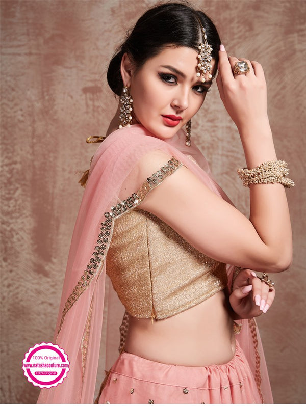 Light Pink Net Lehenga Choli NC13476
