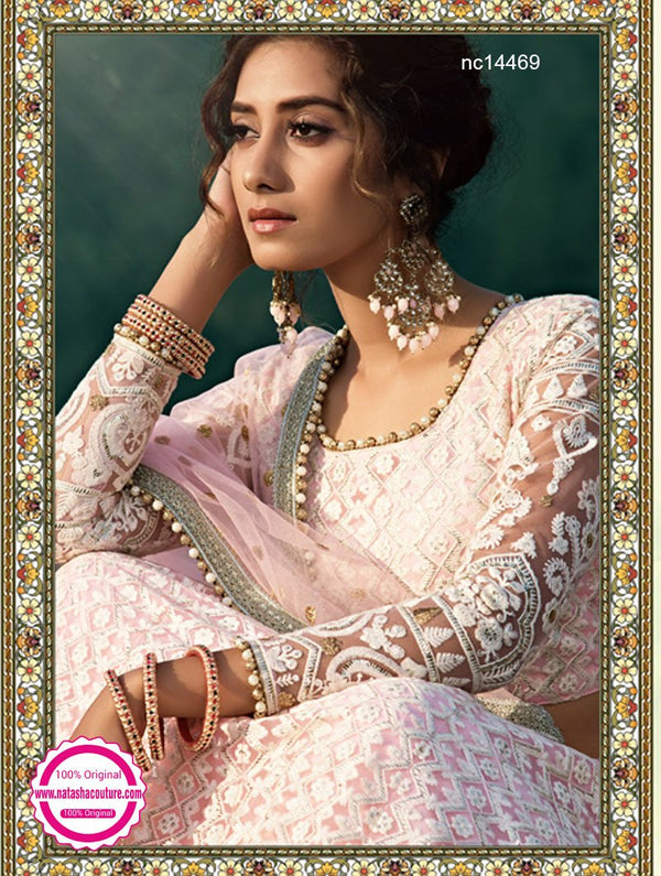 Light Pink Net Lehenga Choli NC14469