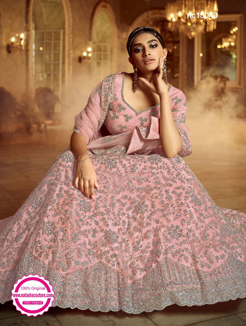 Light Pink Net Lehenga Choli NC15043