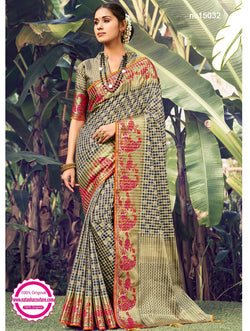 Multicolored Silk Designer Saree NC15032