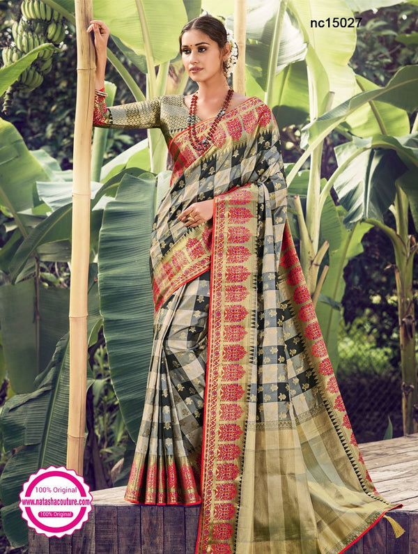 Multicolored Silk Saree NC15027