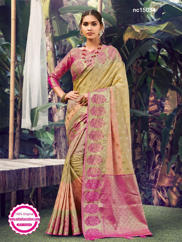 Multicolored Silk Shaded Saree NC15034