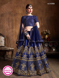 Navy Blue Silk Lehenga Choli NC14368