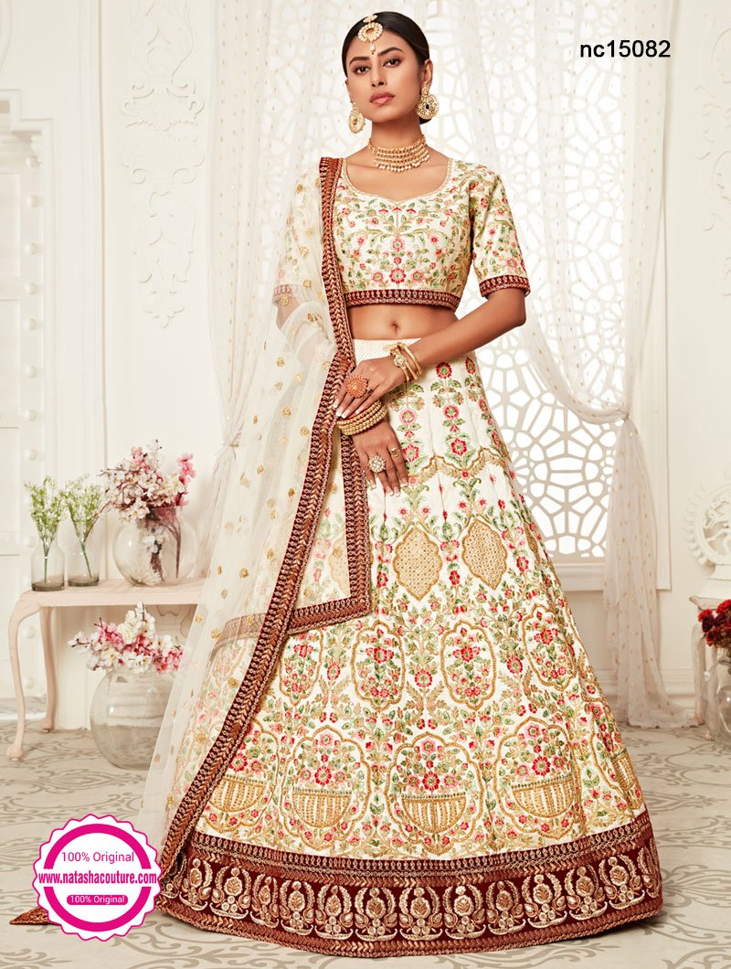 Off White Silk Lehenga Choli NC15082