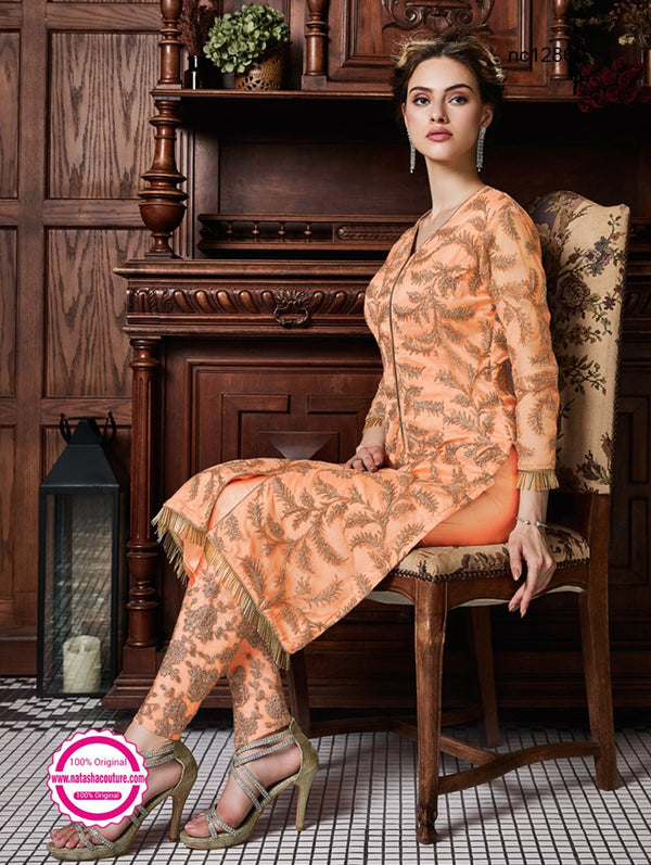Orange Net Pant Style Suit NC12860A
