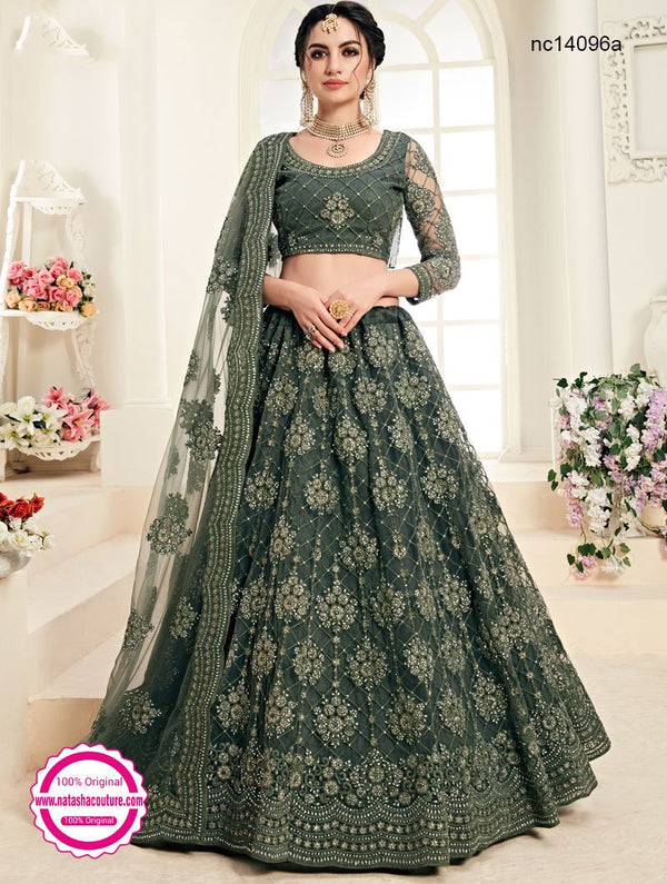 Pale Green Net Lehenga Choli NC14096A