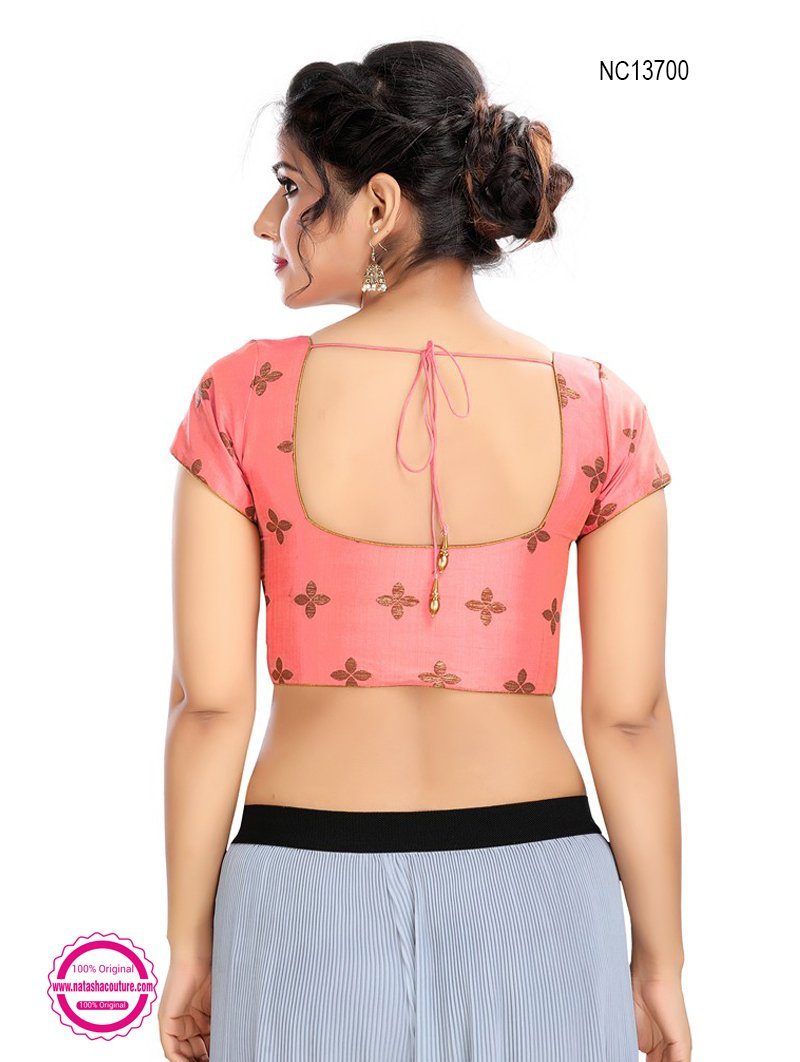 Pink Brocade Readymade Blouse NC13700
