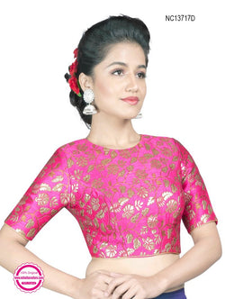 Pink Brocade Readymade Blouse NC13717D