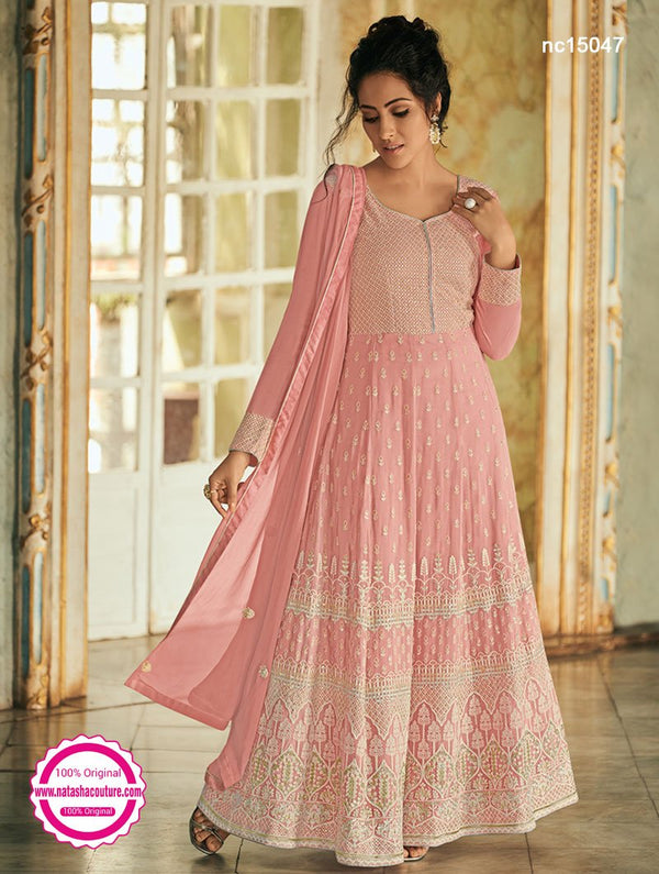 Pink Georgette Anarkali Suit NC15047