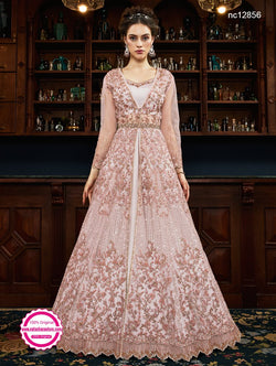 Pink Net Anarkali Suit NC12856