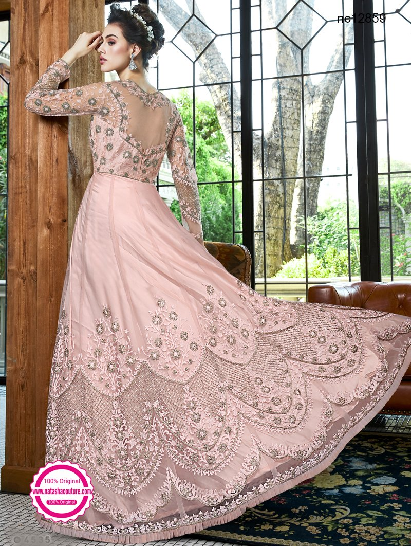 Pink Net Anarkali Suit NC12859