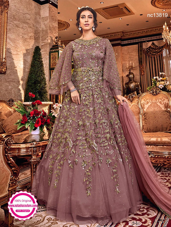 Pink Net Anarkali Suit NC13819