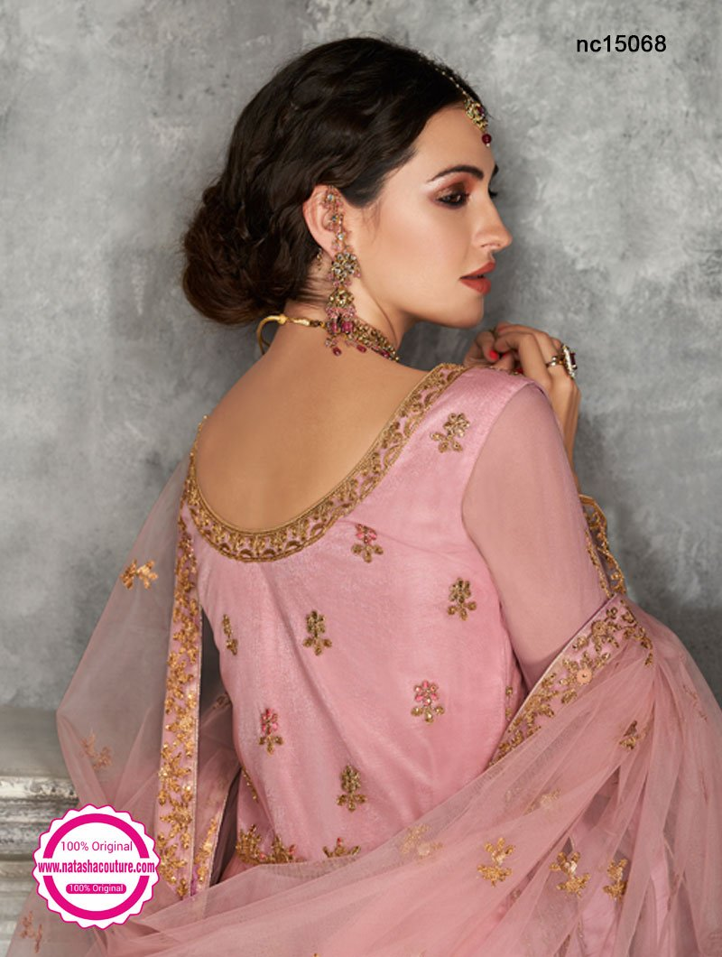 Pink Net Anarkali Suit NC15068