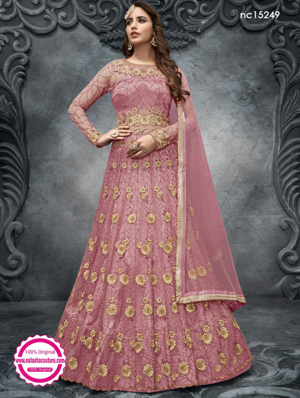 Pink Net Anarkali Suit NC15249