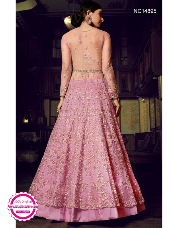 Pink Net Gown NC14895