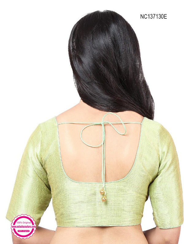 Pista Green Silk Readymade Blouse NC137130E