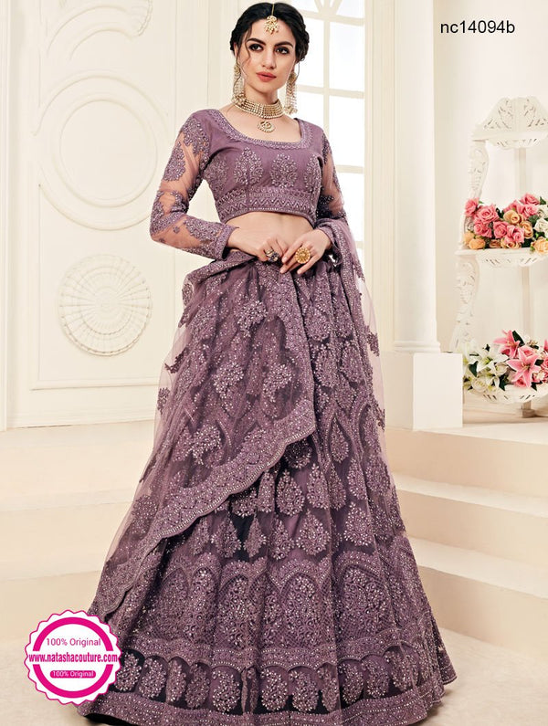 Purple Net Lehenga Choli NC14094B