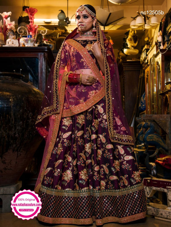Purple Silk Lehenga Choli NC12505B