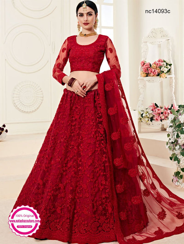 Red Net Lehenga Choli NC14093C