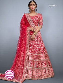 Red Silk Designer Lehenga Choli NC10665