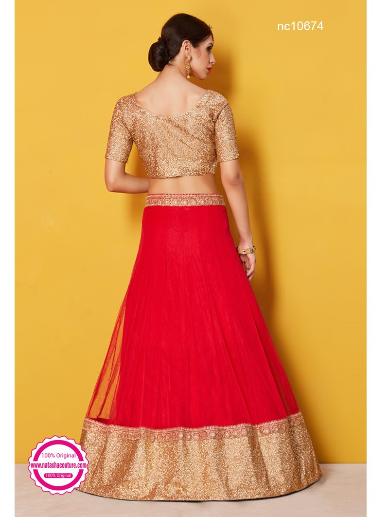 Red Silk Lehenga Choli NC10674