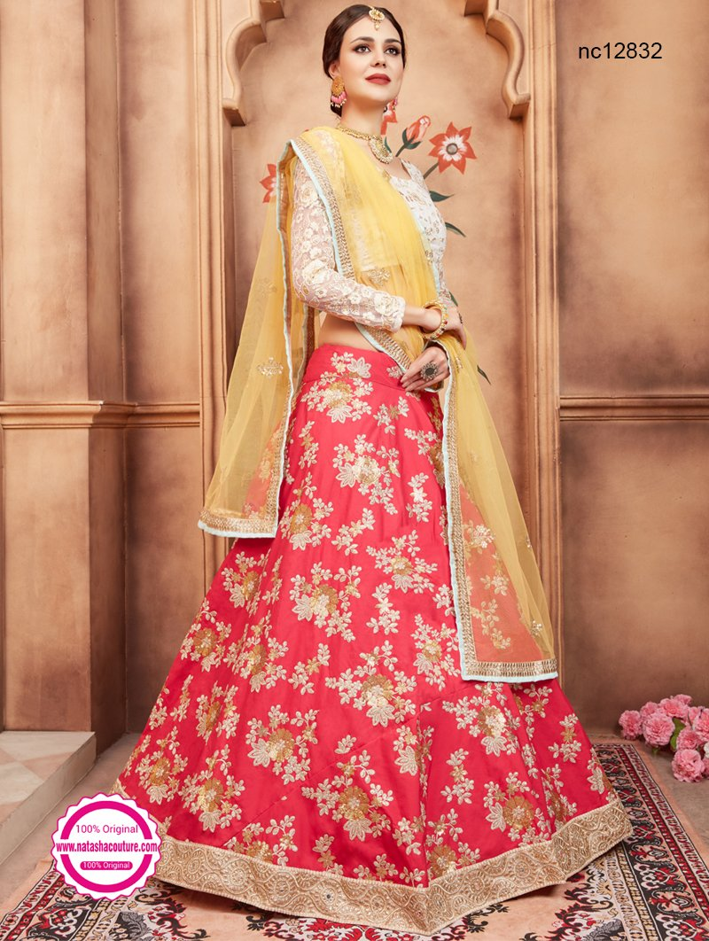 Red Silk Lehenga Choli NC12832