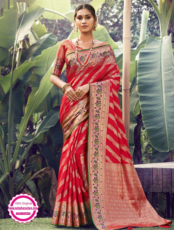 Red Silk Saree NC15029