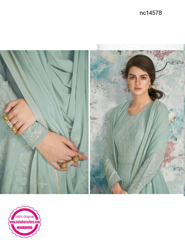 Sea Green Georgette Anarkali Suit NC14578