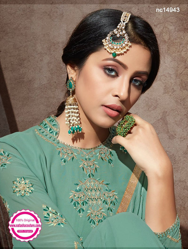 Sea Green Georgette Anarkali Suit NC14943