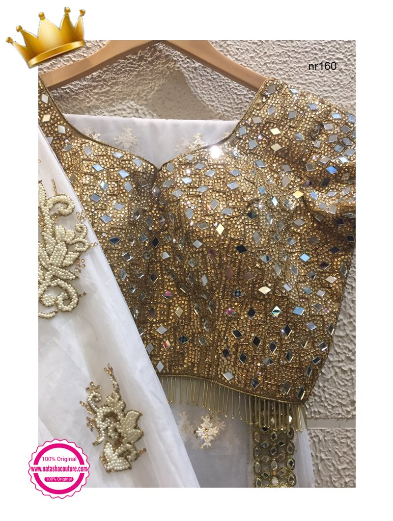White Net Handwork Exclusive Designer Lehenga Choli NR160