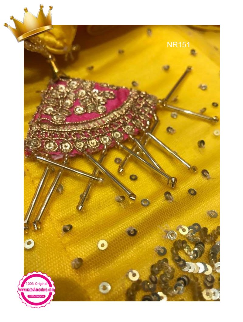 Yellow Net Handwork Exclusive Designer Lehenga Choli NR151