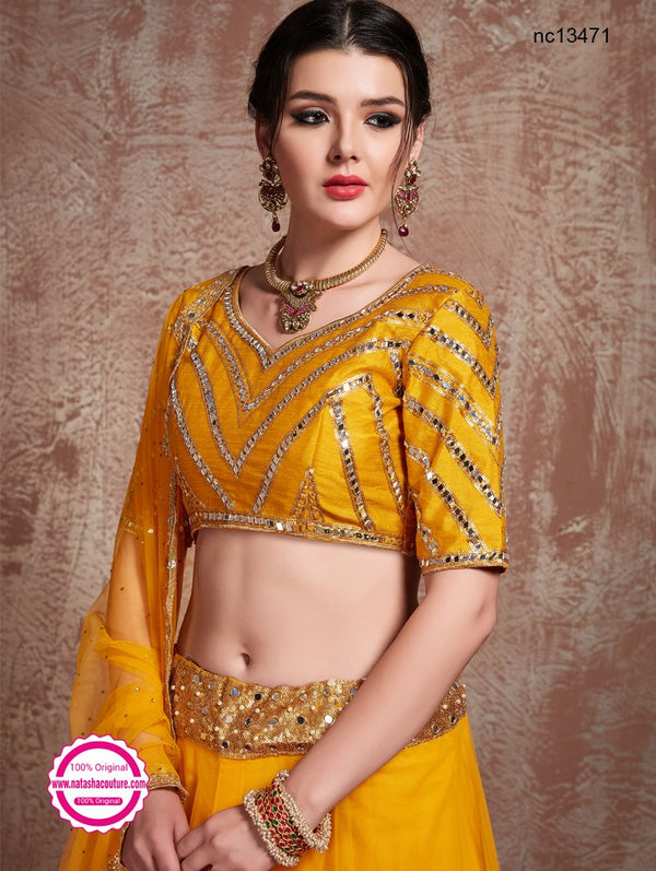 Yellow Net Lehenga Choli NC13471