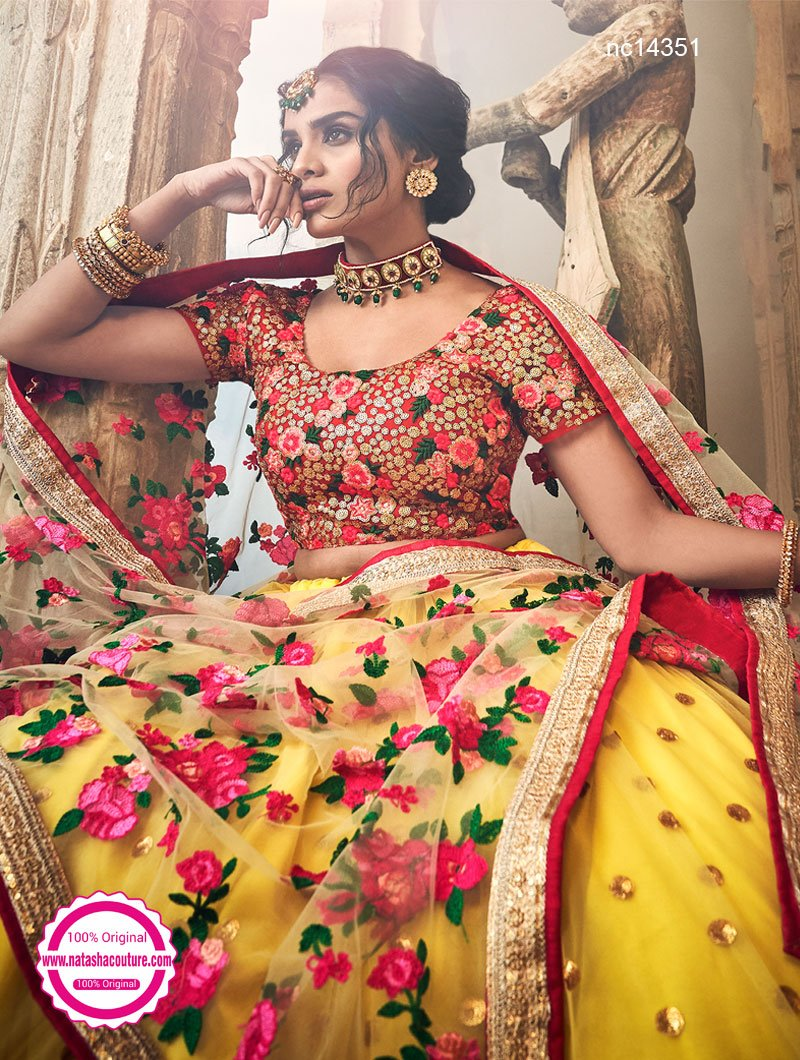 Yellow Net Lehenga Choli NC14351