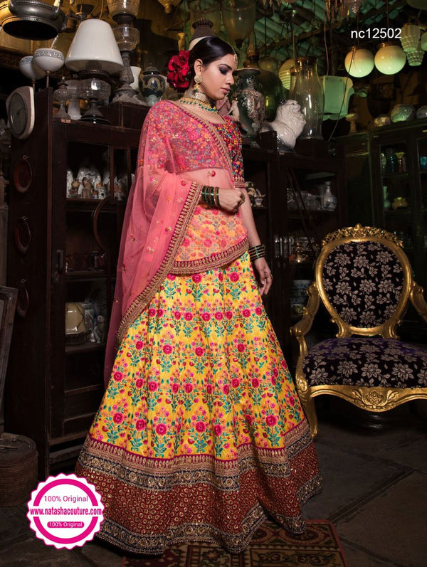 Yellow Silk Lehenga Choli NC12502