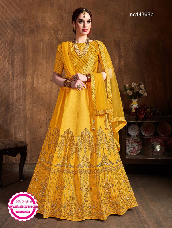 Yellow Silk Lehenga Choli NC14368B