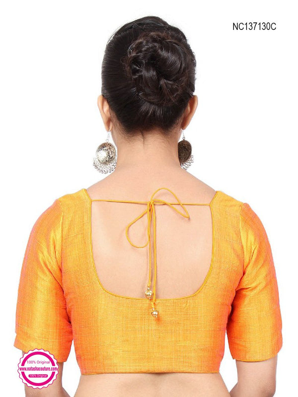 Yellow Silk Readymade Blouse NC137130C