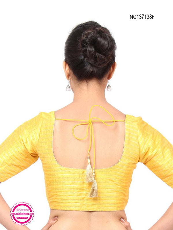 Yellow Silk Readymade Blouse NC137138F