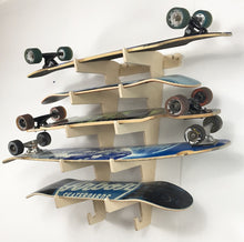 Load image into Gallery viewer, SKATEBOARD/LONGBOARD DISPLAY WALL RACK