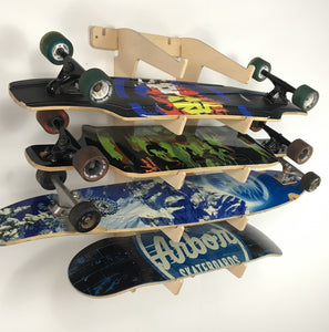 SKATEBOARD/LONGBOARD DISPLAY WALL RACK
