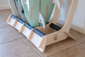 THE LINEUP freestanding surfboard rack