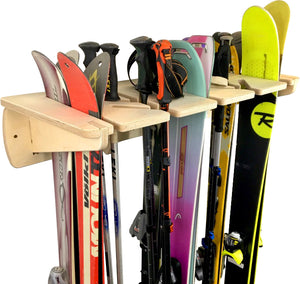 THE PONDEROSA ski wall rack