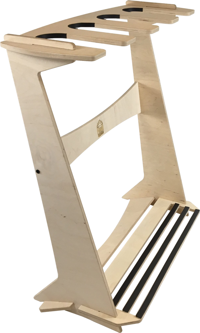 THE PACIFICA freestanding surfboard rack