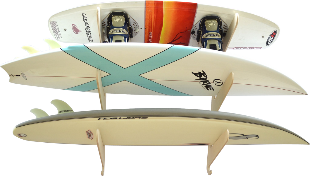 THE EXHIBITOR surfboard wall rack