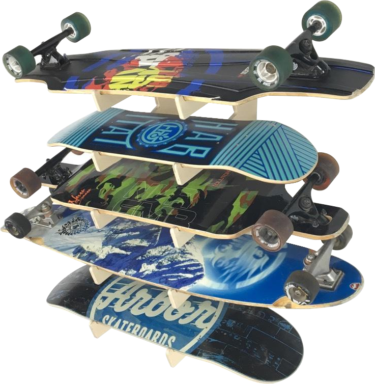 THE SHOWCASE skateboard wall rack
