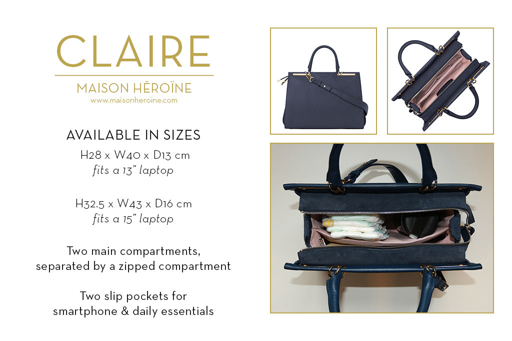 Claire mom purse infographic